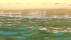 Beach Ocean Surf Peaceful water edge HD Stock Footage