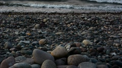 Gritty beach - stock footage