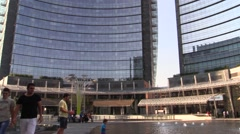 Unicredit skyscraper MIlan Stock Footage