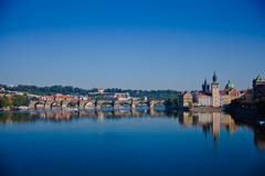 Karls Bridge, Prague, Czech Republic - stock photo