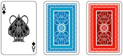 ace and matching back from deck of playing cards, rest of deck available. - stock illustration
