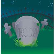 grave illustration - stock illustration