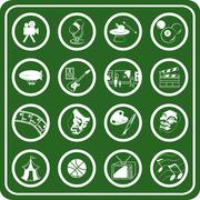 hobbies icon set - stock illustration