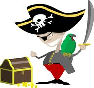 pirate illustration - stock illustration