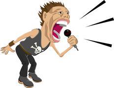 rockstar illustration - stock illustration