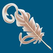 quill feather - stock illustration