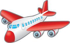 Aeroplane illustration Stock Illustration
