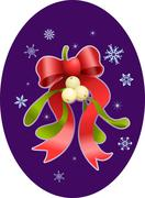 mistletoe christmas  illustration - stock illustration
