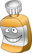 Pill bottle illustration Stock Illustration