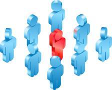Stock Illustration of volunteer concept