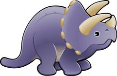 Stock Illustration of cute triceratops dinosaur illustration
