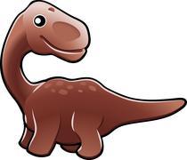 Cute diplodocus dinosaur illustration Stock Illustration