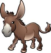 Cute donkey vector illustration Stock Illustration
