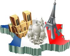 French tourism Stock Illustration