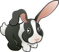 Cute lovable rabbit vector illustration Stock Illustration