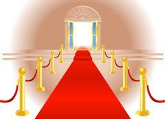 Red carpet entrance Stock Illustration