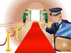 Vip red carpet treatment Stock Illustration