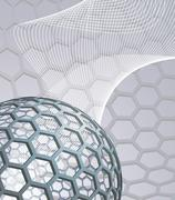 abstract background with buckyball - stock illustration
