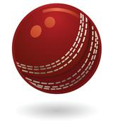 Cricket ball illustration Stock Illustration