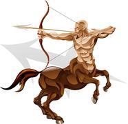 Sagittarius the archer star sign Stock Illustration