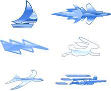Speed icon set series design elements Piirros