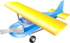 Stock Illustration of aeroplane cartoon