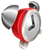 Bight red shiny alarm clock Piirros