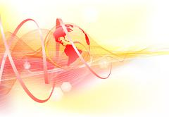 abstract background with world globe - stock illustration