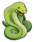 cute cobra snake - stock illustration