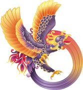 Phoenix fire bird Piirros