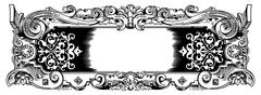 Woodblock style vintage frame Stock Illustration