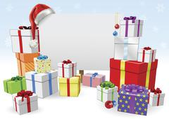 Christmas sign and gifts concept Stock Illustration