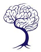 Tree brain Stock Illustration