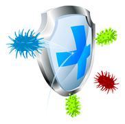 Antibacterial or antiviral concept Stock Illustration