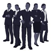 Stock Illustration of young dynamic business team
