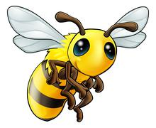 cute bee character - stock illustration