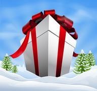 Stock Illustration of giant christmas gift