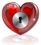 Stock Illustration of heart lock