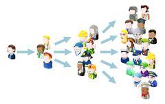 Spread of ideas Stock Illustration