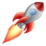 Cartoon rocket space ship Piirros