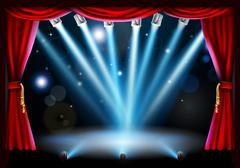 Stock Illustration of centre stage background illustration