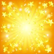 exploding stars background - stock illustration