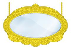 Stock Illustration of fancy boutique mirror