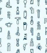 Stock Illustration of seamless tool icon background