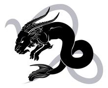 Capricorn zodiac horoscope astrology sign Stock Illustration