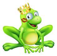 Frog prince cartoon Piirros