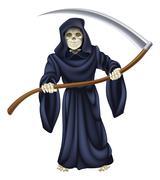 Stock Illustration of grim reaper death skeleton