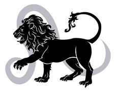 leo zodiac horoscope astrology sign - stock illustration