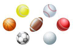Sports balls Stock Illustration
