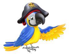Pirate parrot illustration Stock Illustration